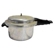 Mirro-Matic Aluminum Pressure Cooker H394M 4 Qt Vintage Complete