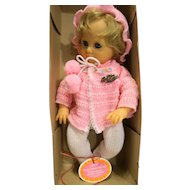 Gotz Modell Baby Girl Doll 15 IN Vinyl NIB Pink White West Germany Gelenkbaby