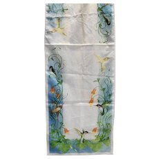 National Wildlife Federation Hummingbirds 1984 Scarf 42 x 13