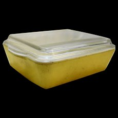 Pyrex Yellow Primary Colors Refrigerator Dish With Lid 503 1 1/2 Qt