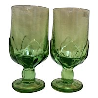 Tiffin Franciscan Cabaret #121 Green Footed Iced Tea Pair