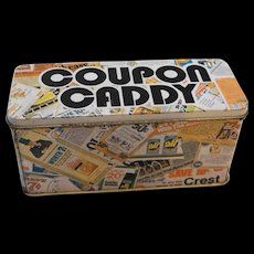 Coupon Caddy Advertising Tin 1970s Kitchenware