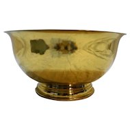 Colony Metalsmiths of Virginia Large Brass Revere Style Bowl 10 IN