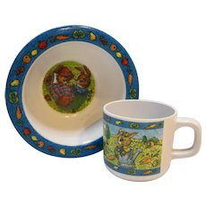 Peter Rabbit Melmac Child Cup Bowl Melamine Plastic Dishes