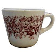 Shenango China Restaurant Ware Red Flowers Cup Mug