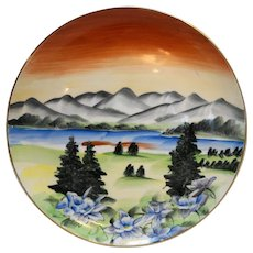 Colorado Handpainted Souvenir Plate Norcrest Japan Porcelain 10 IN