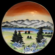 Colorado Handpainted Souvenir Plate Norcrest Japan Porcelain 10 IN