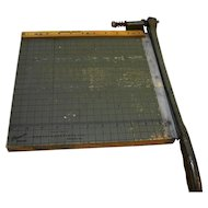 Vintage Heavy Duty Metal Paper Cutter Premier Brand Chicago USA Photo Materials