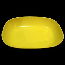 Yellow Texas Ware Oval Serving Dish Bowl Melamine Melmac #117 Mid Century