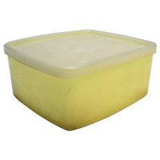 Tupperware 311 Sandwich Keeper Yellow Sheer White Vintage