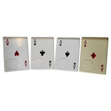 Aces Suits Playing Cards Plastic Snack Trays