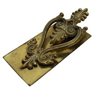 Victorian Brass Paper Clip Paperclip Holder File Letters