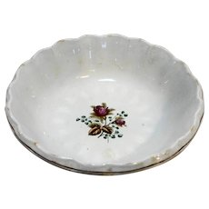 Alfred Meakin Royal Ironstone Rose Transfer Bowl Fluted Rim 10 IN 1890s