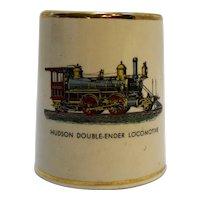 Hudson Double-Ender Locomotive Pottery Cigarette Holder