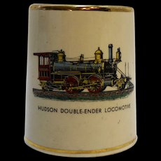 Hudson Double-Ender Locomotive Pottery Cigarette Holder