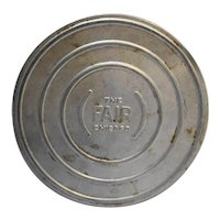 Chicago World's Fair Aluminum Movie Reel Case 7 IN 16mm Souvenir 1933
