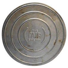 Chicago World's Fair Aluminum Movie Reel Case 7 IN 16mm Souvenir 1933