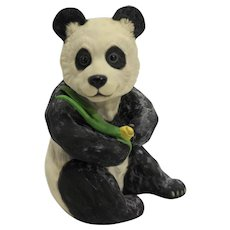 Boehm Panda Bear Seated 5 IN 40237 Hand Painted Porcelain Bisque