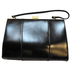Hilco Leather Purse Black Handbag Vintage Made in Haiti