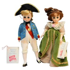 Lord Nelson Lady Hamilton Madame Alexander Dolls Pair