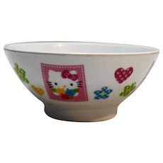 Hello Kitty Melamine Plastic Rice Bowl Vintage Made in Taiwan