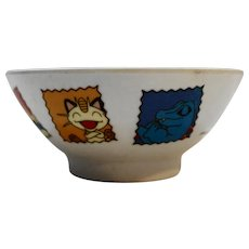 Pokemon Pocket Monsters Melamine Plastic Rice Bowl Vintage Made in Taiwan