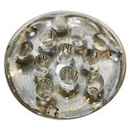 Clear Glass Flower Frog 11 Hole 3.5 IN