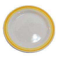 Corelle Citrus Yellow White 2 Bread Plates 1980s Vintage