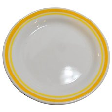 Corelle Citrus Yellow White 2 Bread Plates 1980s Vintage