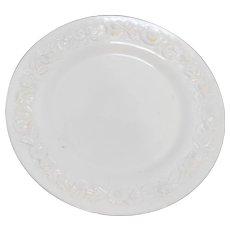 Vitrock White Milk Glass Depression Dinner Plate Anchor Hocking 10 IN