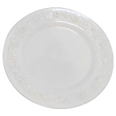 Vitrock White Milk Glass Depression Dinner Plate Anchor Hocking 10 IN