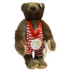 Steiff Wiggins 1996 Museum of Naples Mohair Bear EAN 665158 Limited Edition