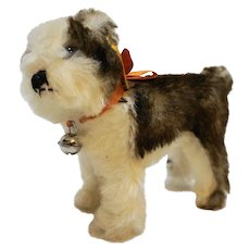 Steiff Molly Dog EAN 031458 Made in Germany 6 IN 1995 Replica 1927
