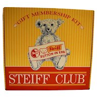 Steiff Club Gift Membership Kit Margarete Bear Teal Blue Complete 1998