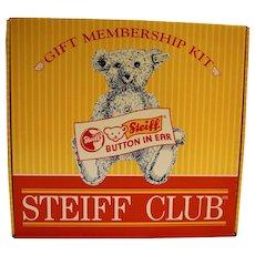 Steiff Club Gift Membership Kit Margarete Bear Teal Blue Complete 1998