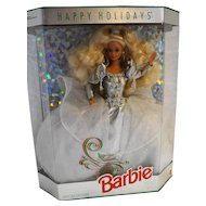 Barbie Happy Holidays Special Edition 1992 Silver Crystal New In Box