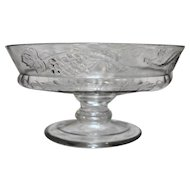Dalzell Cornucopia Low Footed Compote Bowl EAPG Pattern Glass