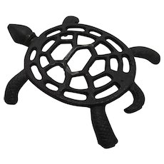 Sea Turtle Cast Iron Trivet Taiwan