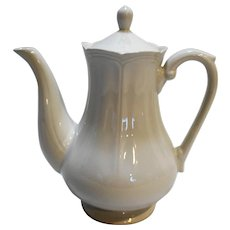 Harmony House Federalist White Ironstone Coffee Pot