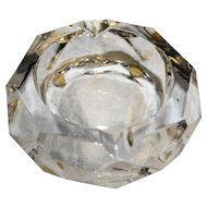 Baccarat Crystal Cut Faceted Ashtray 4 IN