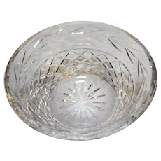 Waterford Glandore 5 IN Bowl Laurel Band Criss Cross Crystal