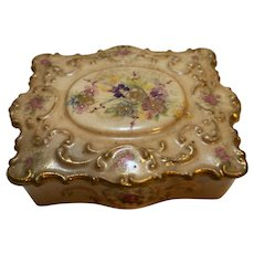 Bethwood Royal China Hand Painted Porcelain Trinket Box Floral