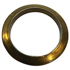 Brass Beveled Bangle Bracelet Hollow