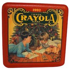 Crayola Tin Colorful Holiday Wishes 1992