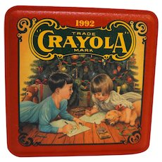Crayola Tin Colorful Holiday Wishes 1992