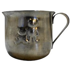 Selandia Baby Cup Mug Teddy Bear Japan 18/8 Stainless Steel