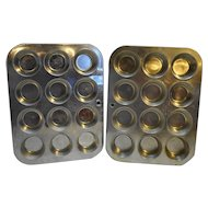 Sears Best Maid of Honor Aluminum Muffin Pan Tin With Unsigned Aluminum Muffin Pan