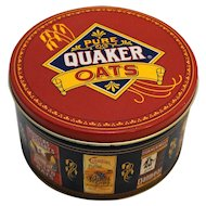 Pure Quaker Oats 1991 Advertising Tin Round