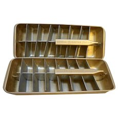 General Electric Orange Aluminum Ice Cube Trays Vintage 1950s