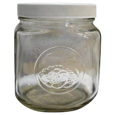 Golden Harvest Clear Glass Canister 1L White Lid